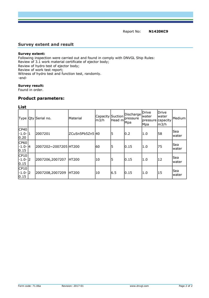 DNV证书